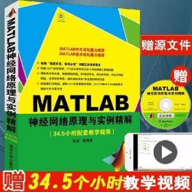 正版现货 MATLAB神经网络原理与实例精解 配光盘 原理应用典型实?