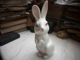 五六十年代【小白兔】摆件!憨态可掬,做工漂亮!高21厘米