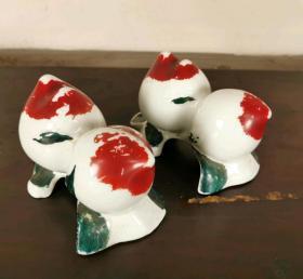民国瓷桃寿桃贡品摆件13506