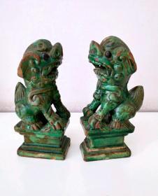 明代绿釉狮子12170