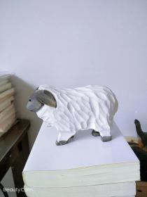 纯手工小绵羊摆件 绵羊木雕 摆件 小羊木雕 手工 实木雕刻 动物