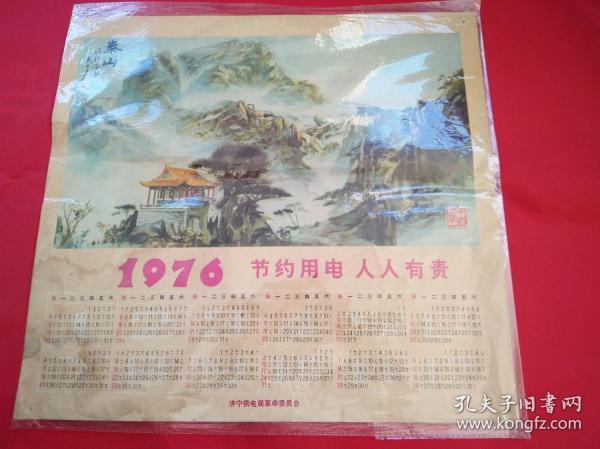 1976年歷畫-節約用電人人有責(濟寧供電局革命委員會)