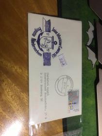 外國信封,海軍封,白馬船錨徽章,20190819
