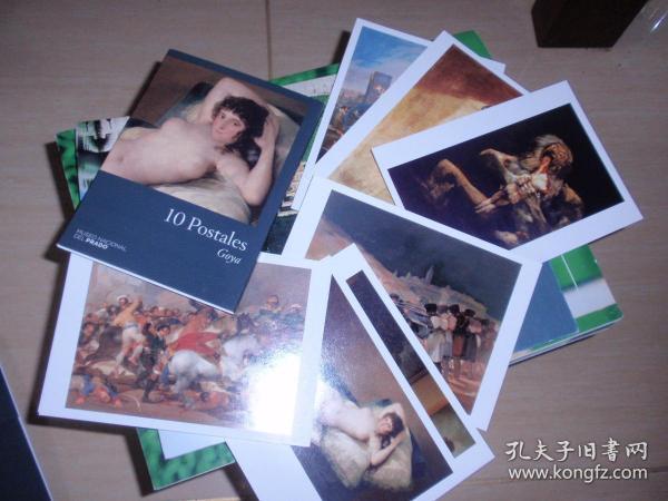外國明信片:10 postales goya(10張全,美術作品)L9