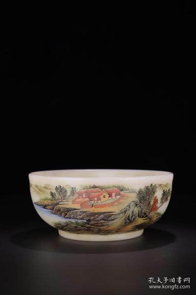 老琉璃「山水意境」賞碗
