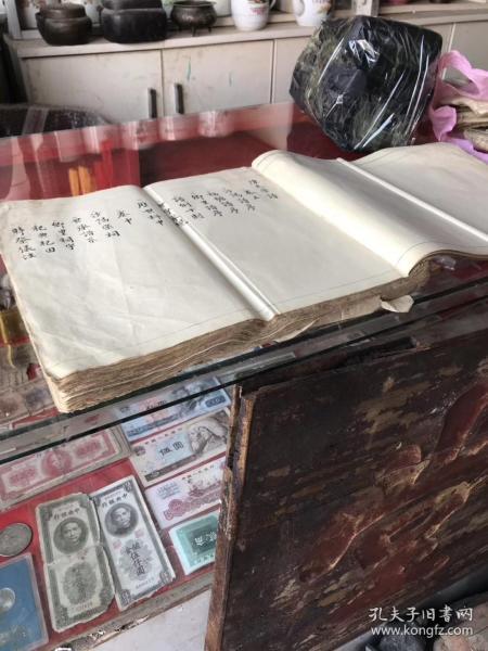 書法精妙,秒殺當今一切書家:字漂亮手寫康熙家譜《陳氏族譜》一本一套齊,品好,33x29x3cm