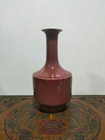 清豇豆紅長頸瓶