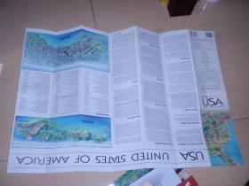 英文原版:美國地圖全英文(特大張)070118