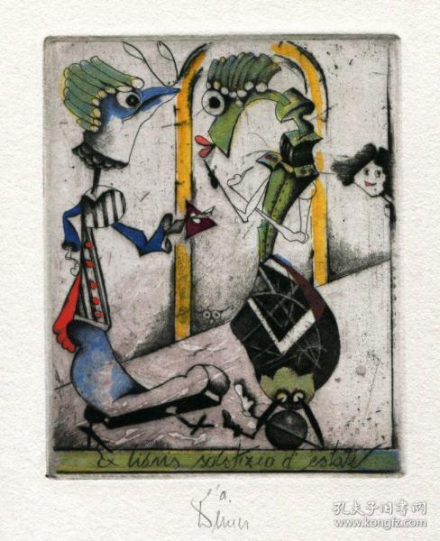 Josef Werner 約瑟夫沃納藏書票之愛麗絲