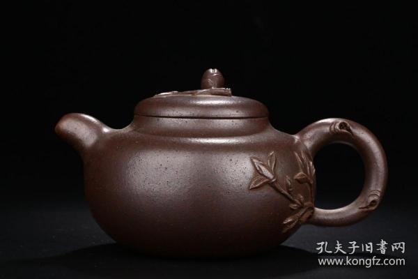 舊藏竹節紫砂壺