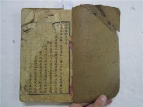 清代木刻線裝本 《濟世經驗方》《經驗方歌》合訂為一冊全 (內有符咒等奇方)