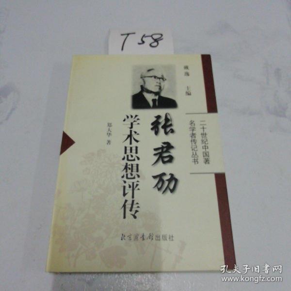 张君劢学术思想评传——二十世纪中国著名学者传记丛书