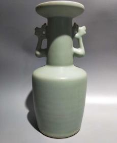 梅子青双耳瓶14435