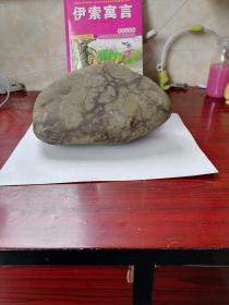 一块图案石《虬曲苍劲的老梅》。体形尺寸约22*14*8cm。重约3.3公斤。