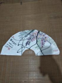 卢小南画扇面——珠花烂漫