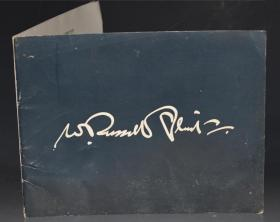 Exhibition of Works by Sir William Russell Flint  1966年苏格兰水彩画之王《罗素•弗林特爵士作品赏析》蓝皮平装插图本