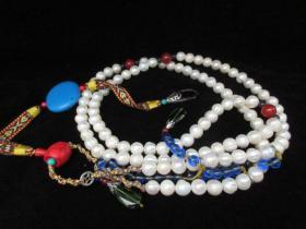 古玩雜項收藏品 朝珠珍珠佛珠朝珠掛飾項鏈首飾背云朝珠