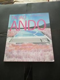TADAO ANDO RECENT PROJECT 英日对照 安藤忠雄手绘彩色小画一幅签名