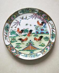 包老,创汇期手绘广彩大吉大利赏盘15494