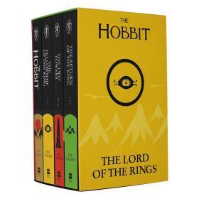 霍比特人和指环王4册盒装 英文原版 75周年纪念版 The Hobbit and the Lord of the Rings 托尔金魔幻小说 Tolkien 进口套装 平装
