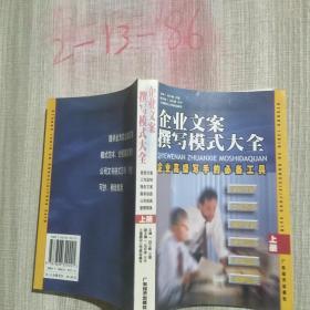 企业文案撰写模式大全:企业高级写手的必备工具(上册)