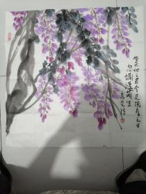 《生天地之若兮,见阳春之日,忽烂漫萌生》画家高晓然,籍贯河北,毕业于北京画院高研班,师从著名画家王培东,石齐等。