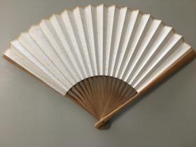 折扇,洒金云母空白宣纸画扇 女士用尺寸