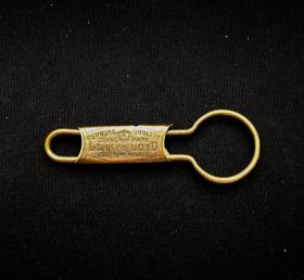 上世纪30年代经典美式黄铜钥匙扣!