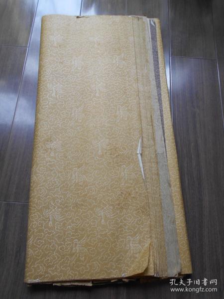 老紙頭【80年代,鶴紋裱畫裱頭紙,83張】尺寸:82.5×62.5厘米