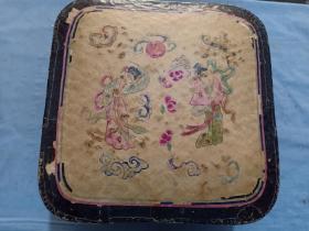 (庫)清代 手繪 年畫  仙女散花,紙盒,28*28*19cm