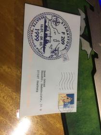 外國信封,海軍封,f209,1999,圓形,20190819