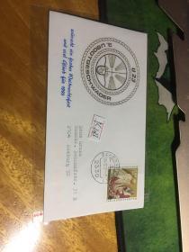 外國信封,u23,1992,海軍徽章,20190819
