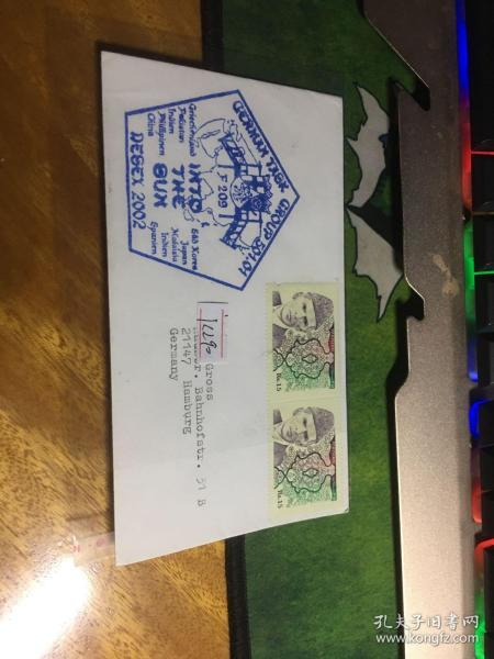 外國信封,五角海軍徽章印戳,巴基斯坦郵票,20190819
