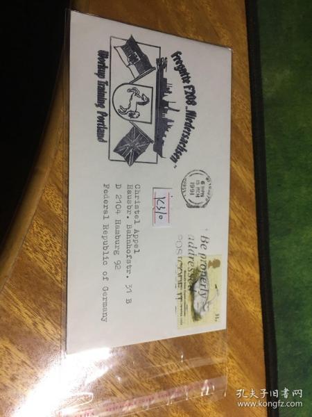 外國信封,1991,白馬國旗徽章,動物郵票,20190819