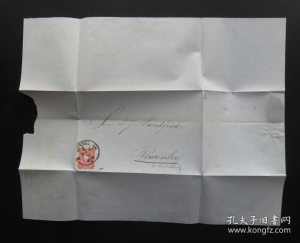 1876年2月5日德國(勞恩貝格)實寄郵簡貼10分郵票1枚(62)