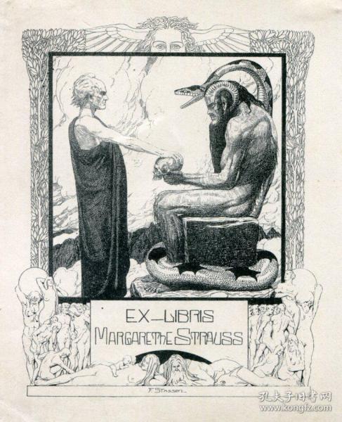 Franz Stassen藏書票之尼伯龍根的指環