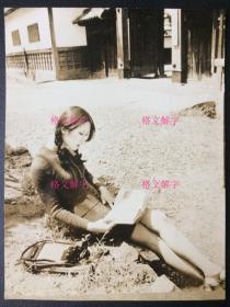 清纯美女大学生 照片 看书 相机 非常非常漂亮