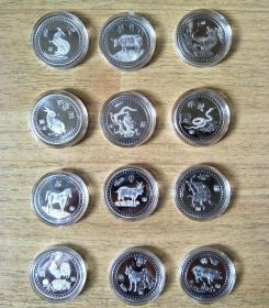 十二生肖纪念币纪念章12枚整套售