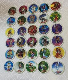(小二郎)水浒英雄传圆形卡片,梁山好汉前50名50张合售