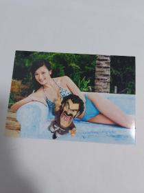 林熙蕾的绝版稀有泳装五寸照片