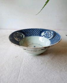 清代早期康熙喇叭碗18670