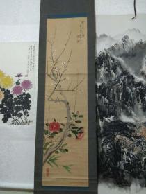 著名书画家张贞一早期精品花卉立轴