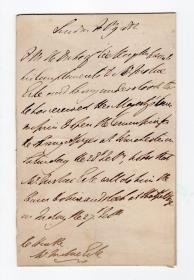 """""""世界征服者的征服者 """" 滑铁卢战争击败拿破仑者 威灵顿公爵 1852年去世当年亲笔信 PSA鉴定"""