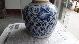 清代青花罐