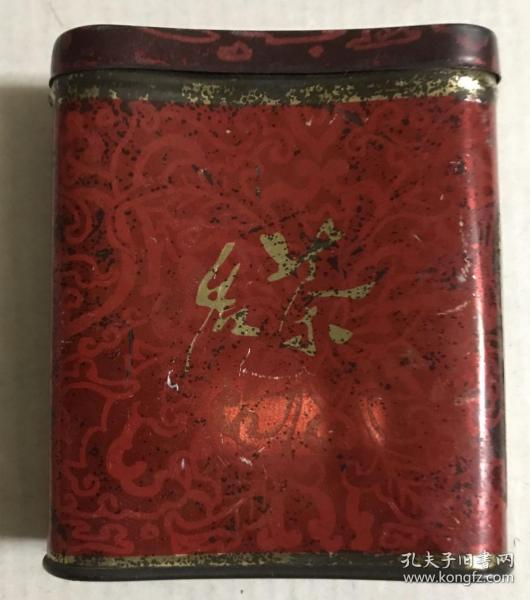 名茶鐵皮盒