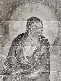 一苇渡江拓片(原碑原拓),达摩渡江,十年前老拓,唯一精品,层次分明。