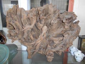 【有点年头的根雕,造型还不错】宽50,高37厘米