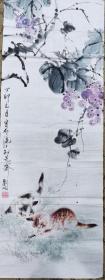 】刘海粟之侄、著名海派画家 刘屹 猫蝶图