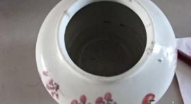 粉彩花鸟将军罐21235