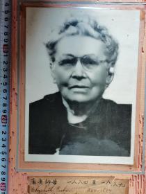 老照片  ,蒲老师母 ,(1884-1889)  尺寸图为准